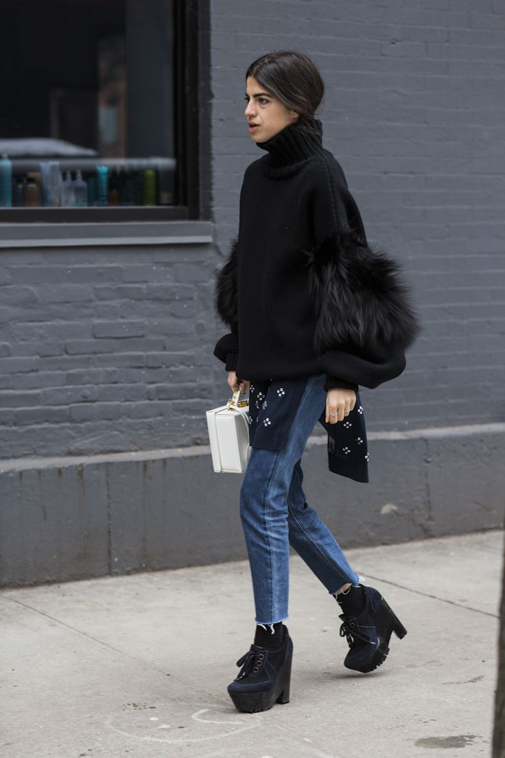 feathers & fluff & such. Leandra in NYC. #LeandraMedine #ManRepeller