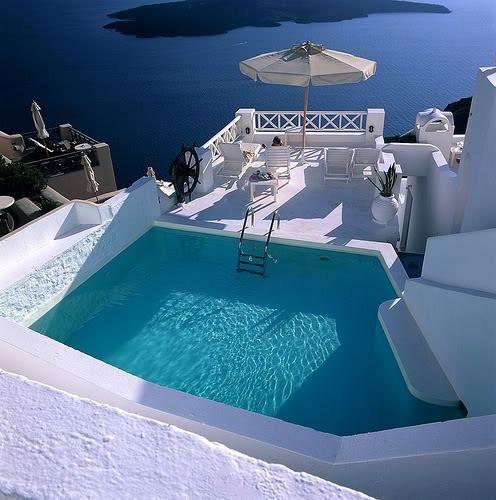 Blue Pool, Santorini, Greece
