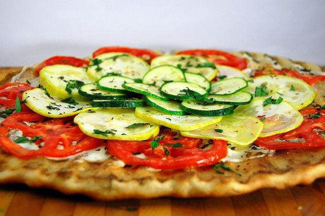 Grilled Summer Veggie Pizza | recipes to make... | Pinterest