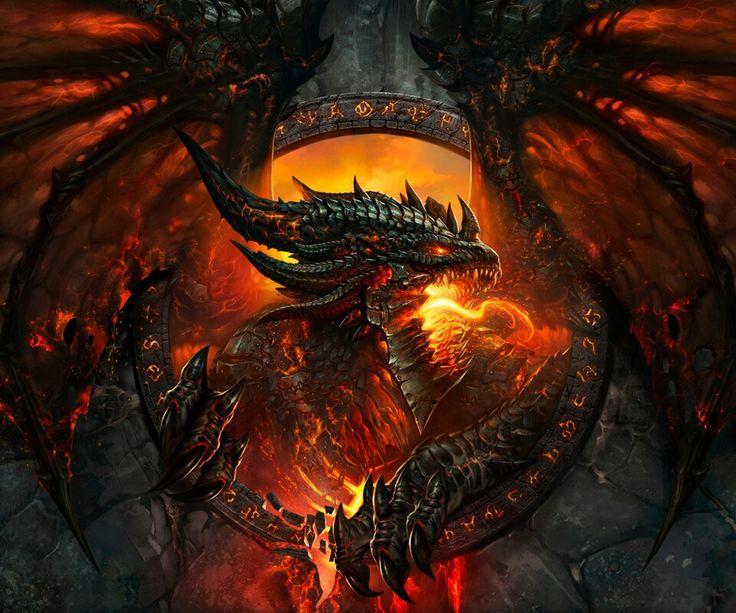 flaming dragon