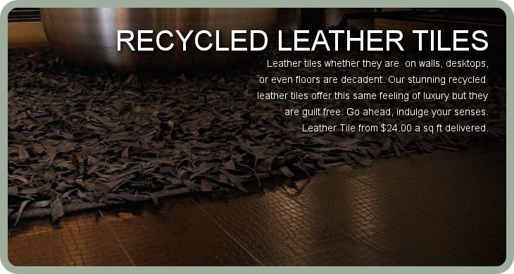 Recycled leather tiles walls wallpaper flooring for Recycled leather tiles