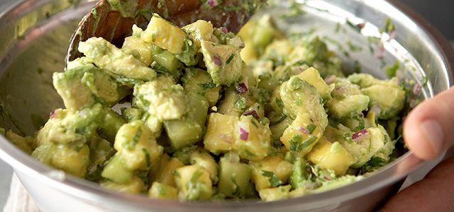 Pineapple and Cucumber Guacamole (Guacamole con Piña y Pepino) | The ...
