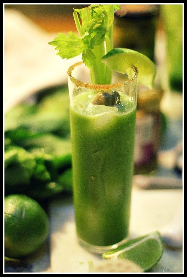 green bloody mary's | Let's party | Pinterest