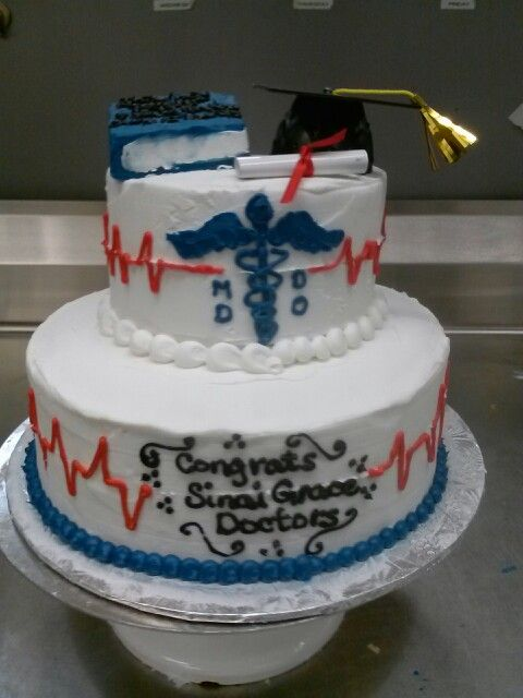 medical graduation cakes