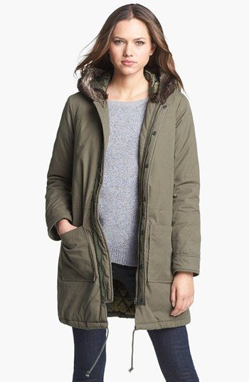 Joie 'Jaina' Faux Fur Trim Anorak #wantit