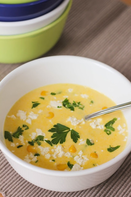 Fresh Corn Chowder with Roasted Peppers - recipe ingredients: roasted ...