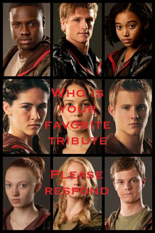 ... Katniss, Peeta, Rue, Foxface, Clove, Cato, Thresh, Glimmer and Marvel