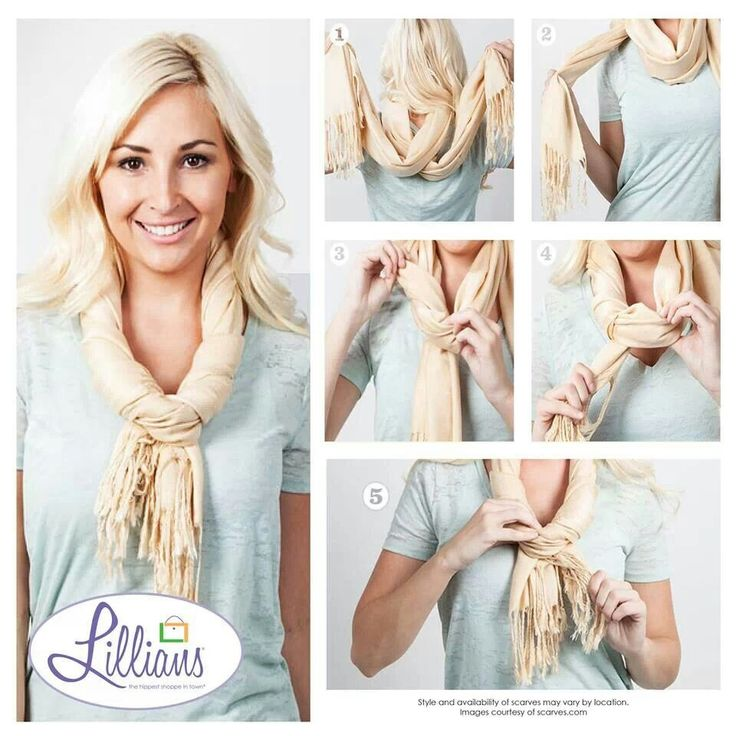 Scarf Tying Tips Pinterest