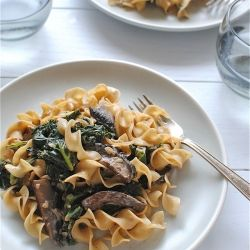 Mushroom and Kale Stroganoff | Recipe Box - Main Dishes | Pinterest