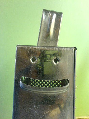 "what a ""grate"" face"