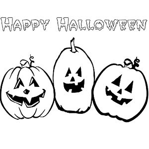 happy halloween printable coloring pages happy halloween - Free Halloween Printables Coloring Pages