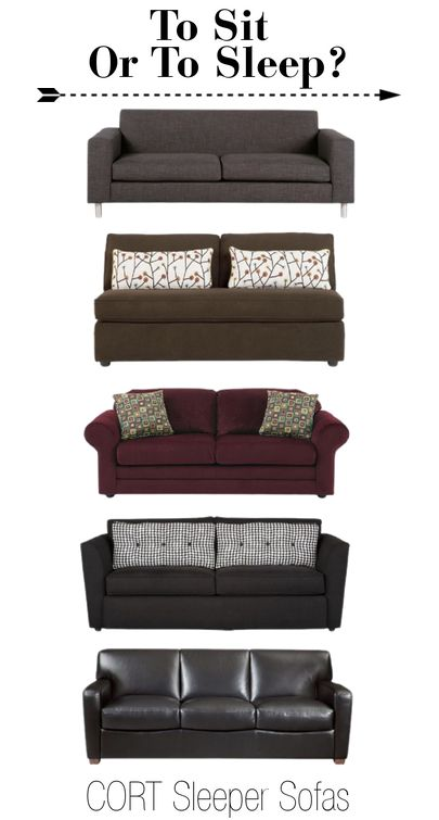 Sometimes surprise guests leave us scrambling to scrounge for accommodations, and sometimes family gatherings get a little out of control. Luckily, CORT offers sleeper sofas that are so stylishly comfortable and functional, your guests can sit or sleep on any moment's notice. | To see more sleeper sofas from CORT, see go.cort.com/2ul