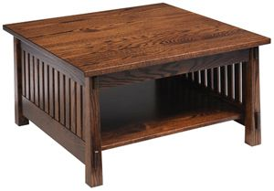 Mission Square Coffee Table Oak Mission Style Craftsman