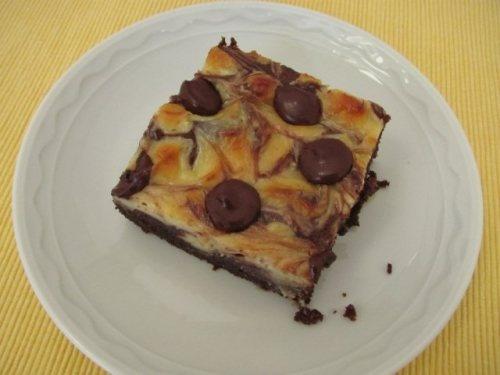 Cheesecake-Swirled Brownies