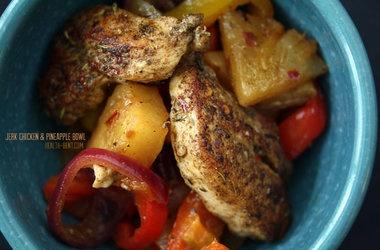 jerk chicken amp pineapple bowl punchfork dinner