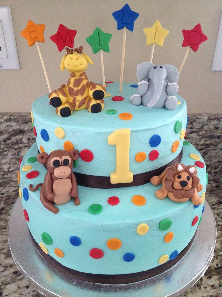 Zoo Animal Cake Ideas 38863 Zoo Animals Birthday Cake Park