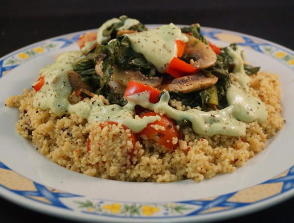Sauteed Kale With Tahini Sauce Recipe — Dishmaps