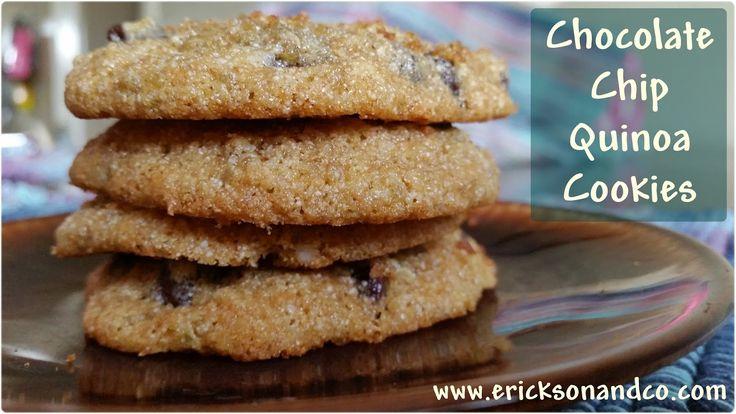Chocolate Chip Quinoa Cookie Recipe | Food | Pinterest
