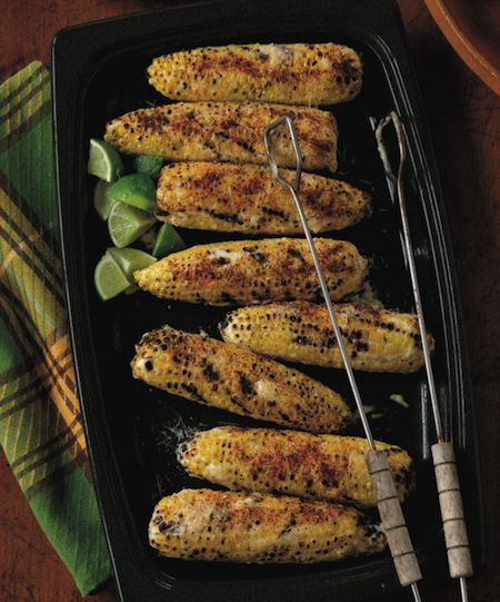 Mexican Corn on the Cob with Mayo, Lime, and Grated Cheese picture