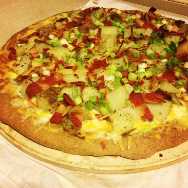 Loaded baked potato pizza recipe | Healthy recipes | Pinterest