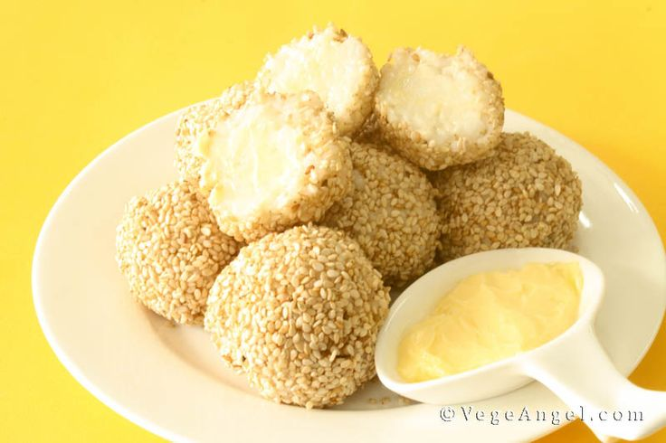 Sesame Rice Balls--easy! I am going to make these with brown sushi ...