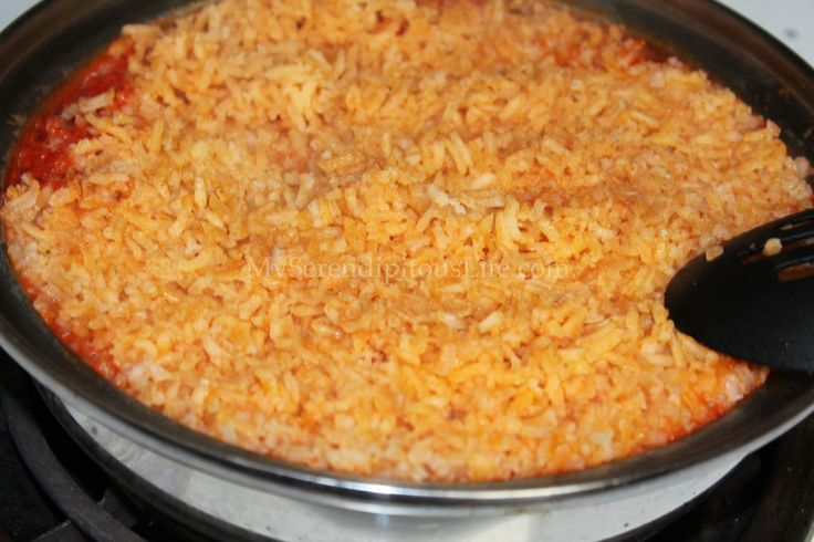 Easy Spanish Rice: Ingredients: 1-1 1/2 c. Long grain rice 1/2 ...