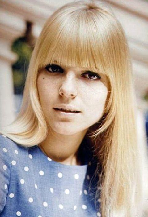Straight across bangs Hair Pinterest - 1960S Hairstyles