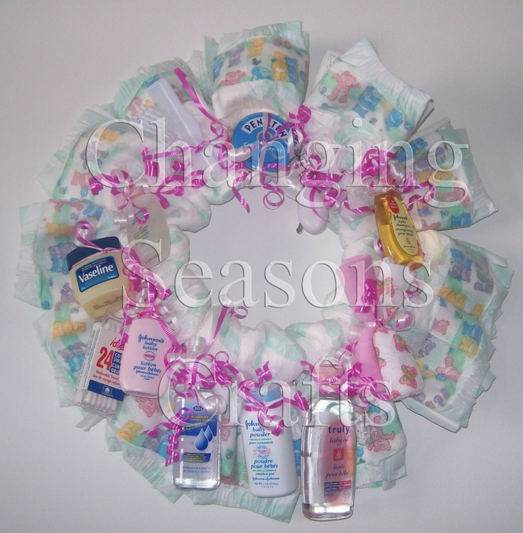 diaper wreaths diaper wreaths baby shower pinterest