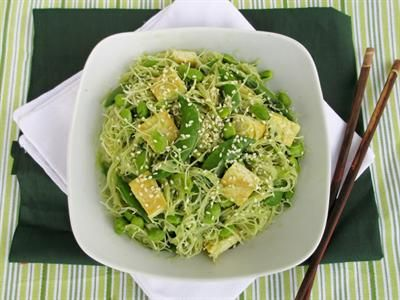 ... Healthy Ways to Cook with Miso: Green Vermicelli Noodle Bowl with Tofu