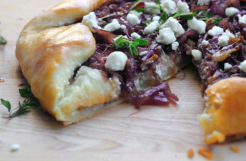 Goat Cheese and Caramelized Onion Tart - About the Soufflé
