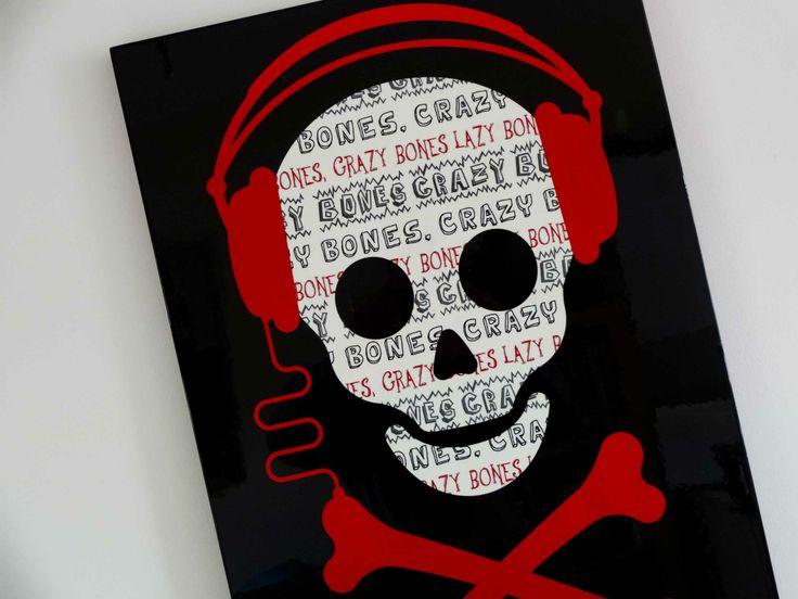 Skull amp crossbones with headphones skulls pinterest