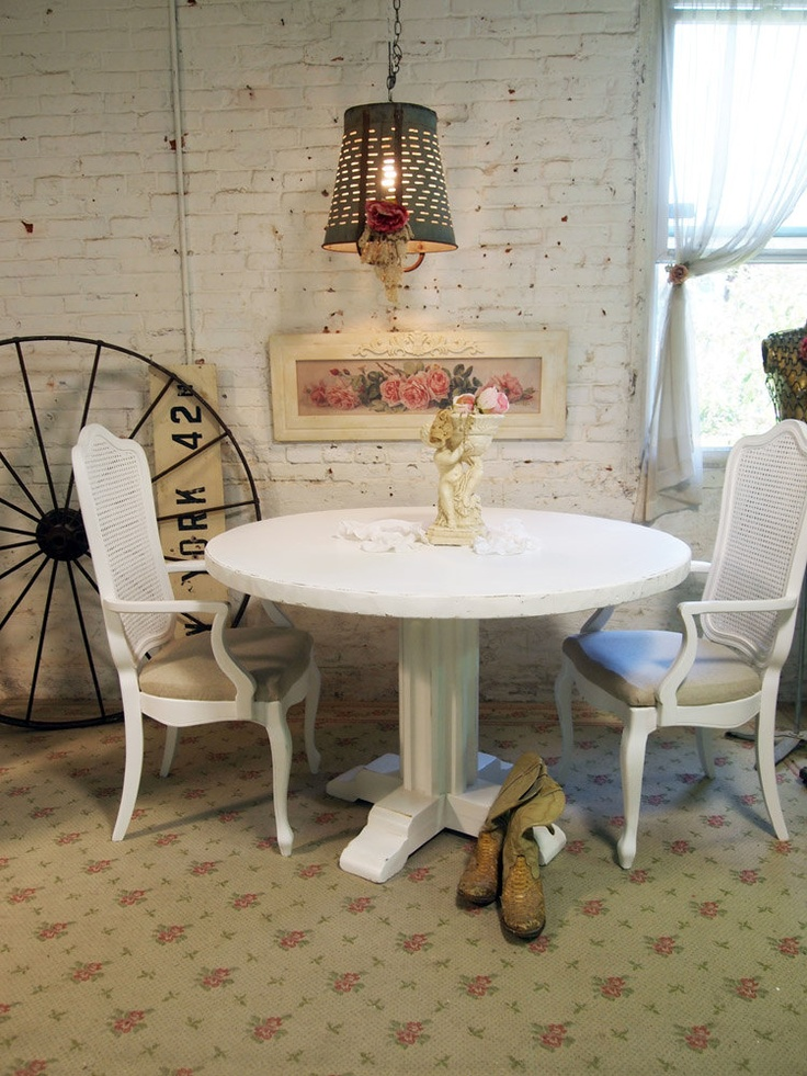 dining table white shabby chic dining table. Black Bedroom Furniture Sets. Home Design Ideas