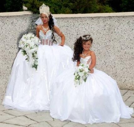 Gypsy wedding dresses for sale unique weird pinterest for Ugly wedding dresses for sale