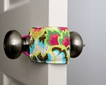 Door Jammer, to keep those doors from slamming during nap time