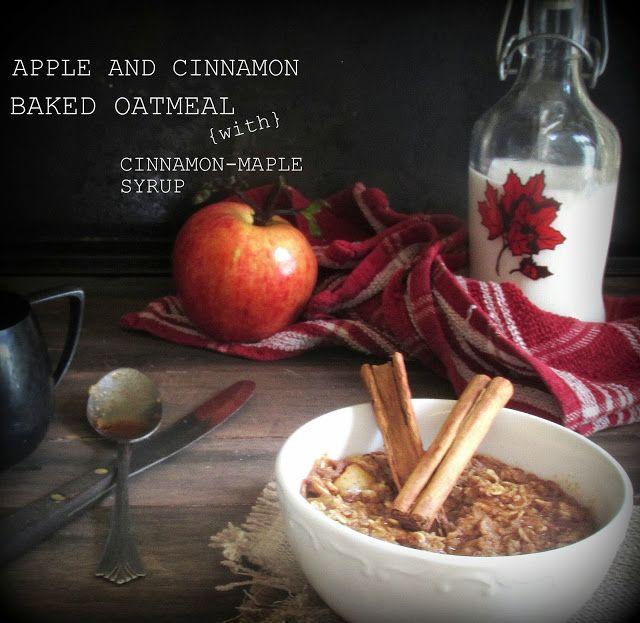 Oatgasm: Apple Cinnamon Baked Oatmeal {with Cinnamon-Maple Syrup}