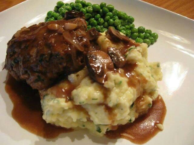 Salisbury steak | Ground Meats | Pinterest