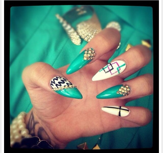Nail designs. Nails gone wild. | Tip designs | Pinterest