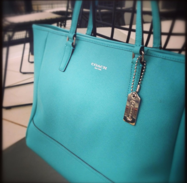 Tiffany Blue Coach Bag....Love! Ugh this nag is on sale at the bx I ...
