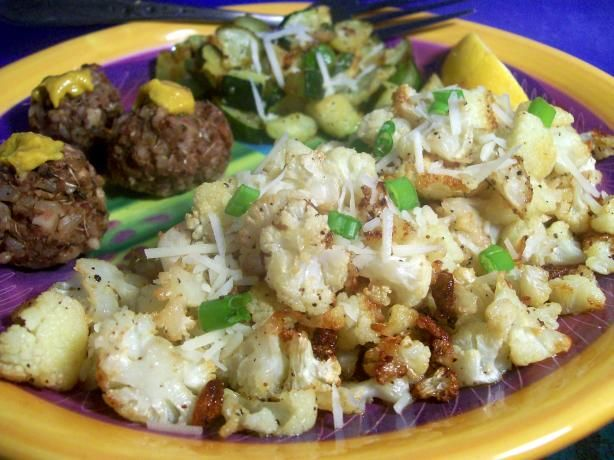 Oven- Roasted Cauliflower With Garlic, Olive Oil And Lemon Juice ...