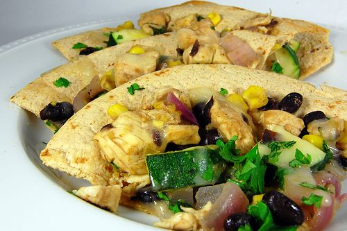 Chicken and summer vegetable tostadas | Recipes | Pinterest