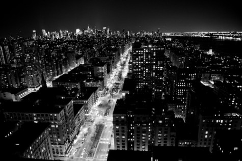 city lights black and white - photo #14