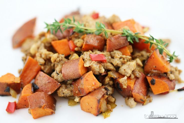 potato endive hash with sriracha buttermilk sauce sweet potato and ...