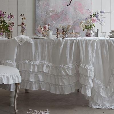 Suzie: Decor/Accessories - Rachel Ashwell Shabby Chic Couture White Petticoat Tablecloth - white, petticoat, tablecloth