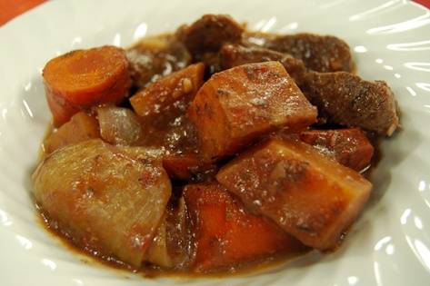 Kid-friendly beef stew - CityLine I omitted the leaks and turnip and ...