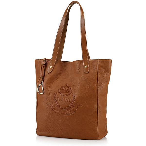 Lauren Ralph Lauren Putnum Leather Tote ($198) via Polyvore