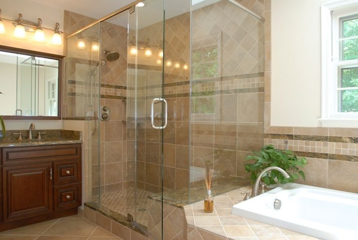 Tile shower idea for reno of master bath tile showers for Shower reno