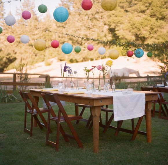 DIY Back Yard Wedding Party Ideas