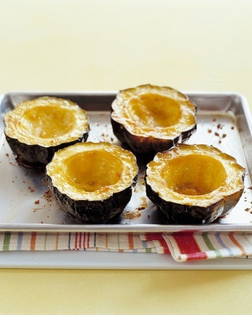 Baked Acorn Squash with Brown Sugar, dessert!