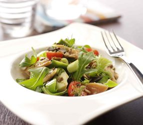 Mackerel, Leek & Avocado Salad | Healthy food ideas | Pinterest