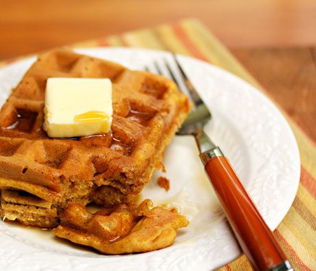 Pumpkin Banana Waffles. These are delicious with some added cooked ...